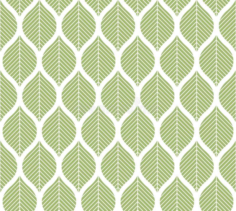 Modèle sans couture de vecteur à la mode géométrique de feuilles Texture abstraite de vecteur de symétrie Fond de feuille illustration libre de droits