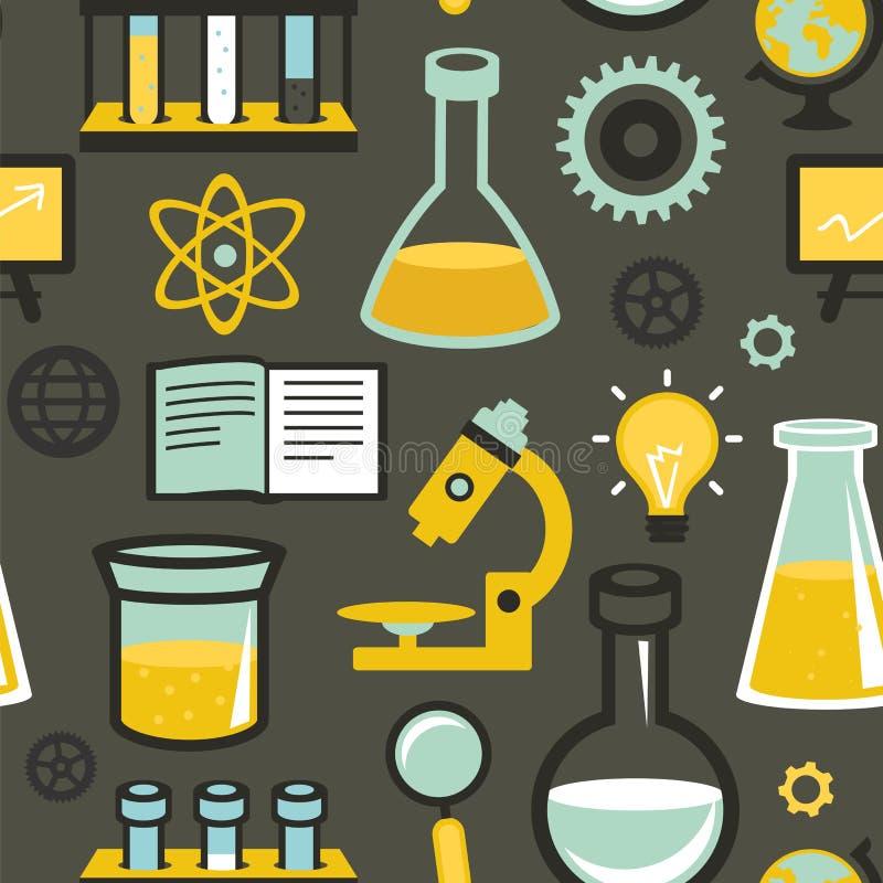 Modèle sans couture de vecteur - éducation et science illustration libre de droits
