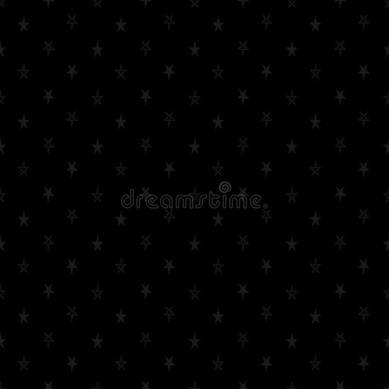 Modèle sans couture de vecteur abstrait avec des étoiles Contexte neutre classique E répétition illustration libre de droits