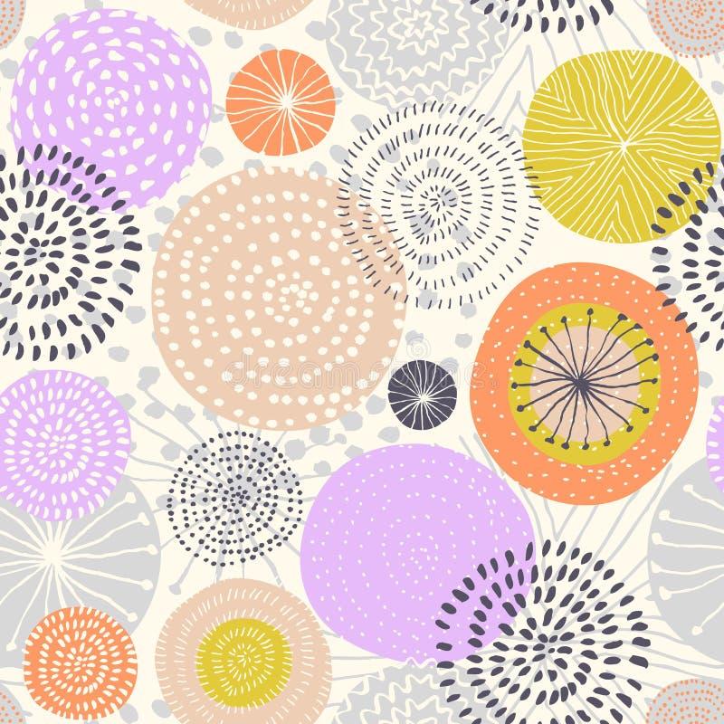 Modèle sans couture de vecteur abstrait avec les feux d'artifice colorés illustration stock