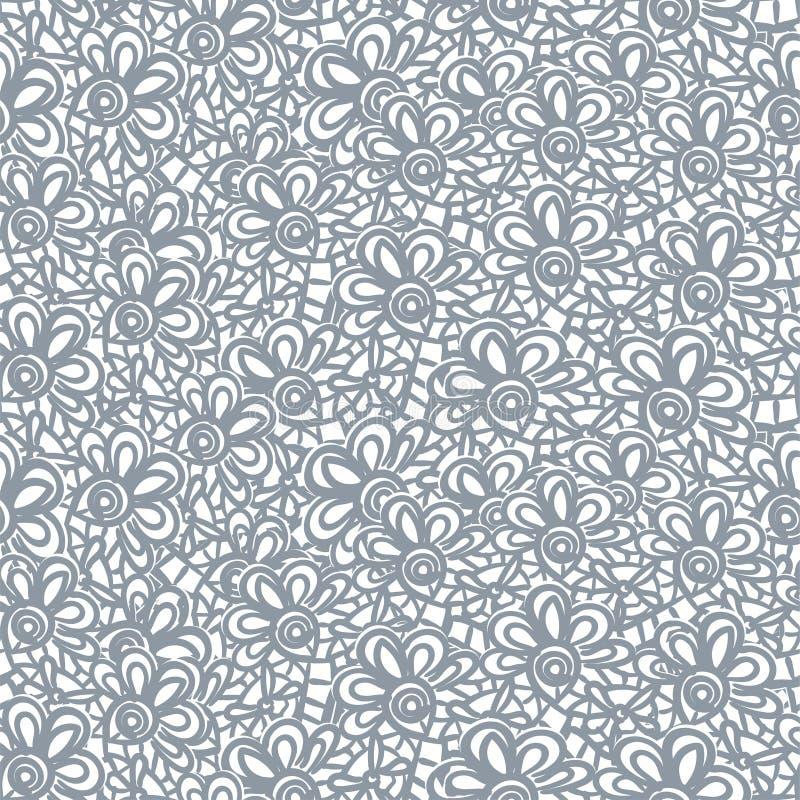 Modèle sans couture de vecteur abstrait de dentelle tiré par la main illustration de vecteur