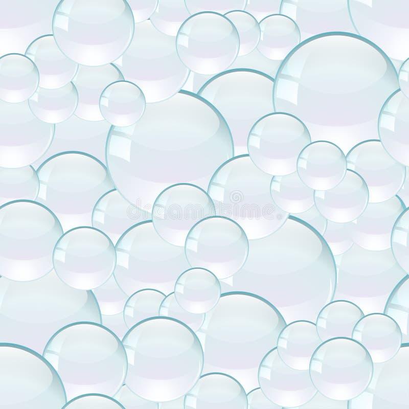 Modèle sans couture de vecteur avec des bulles images libres de droits