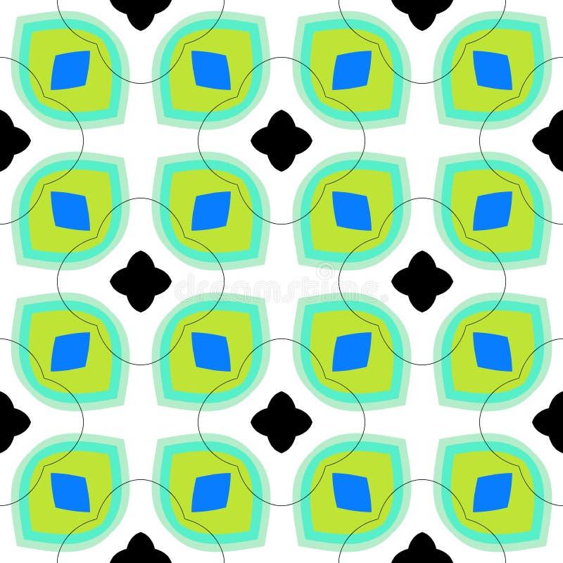 Modèle sans couture de vecteur avec des formes géométriques audacieuses illustration stock