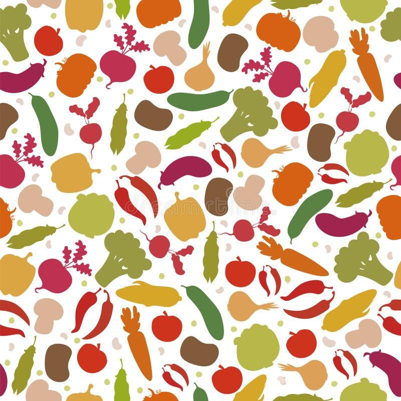 Modèle sans couture de vecteur avec des légumes Légumes assortis illustration libre de droits
