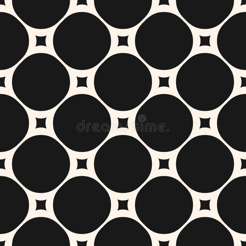 Modèle sans couture de vecteur avec de grands cercles et petites places Texture g?om?trique illustration de vecteur