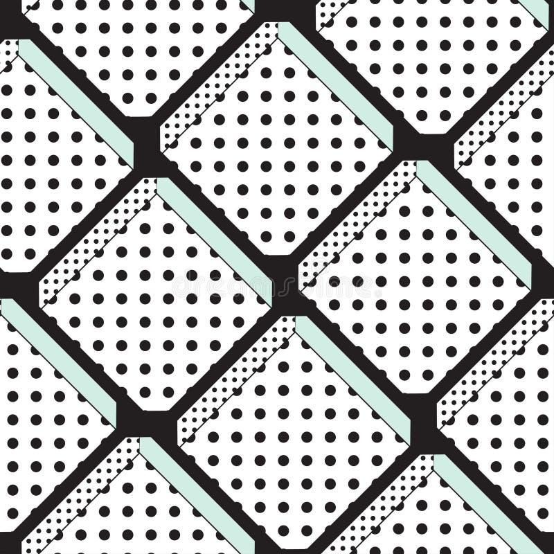 Modèle sans couture de vecteur avec l'ornement diagonal classique illustration de vecteur