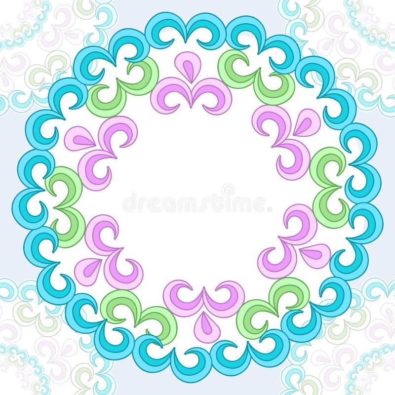 Modèle sans couture de vecteur avec l'ornement floral lumineux Élément de conception de vintage dans le style oriental illustration stock