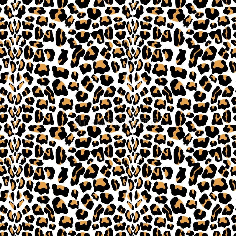 Modèle sans couture de vecteur avec la texture de fourrure de léopard Répétant le fond de fourrure de léopard pour la conception  illustration de vecteur