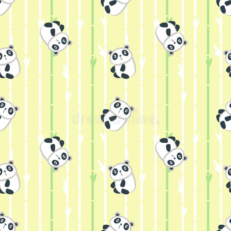 Modèle Sans Couture De Vecteur Avec Le Petit Panda Mignon