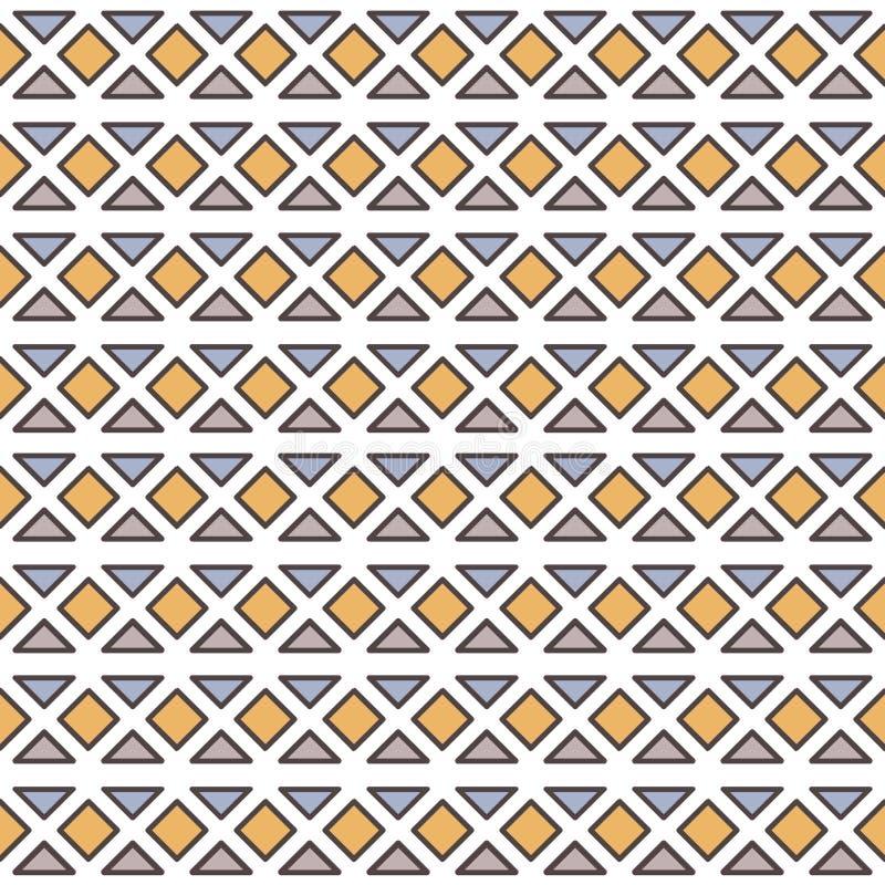 Modèle sans couture de vecteur avec les éléments géométriques illustration de vecteur