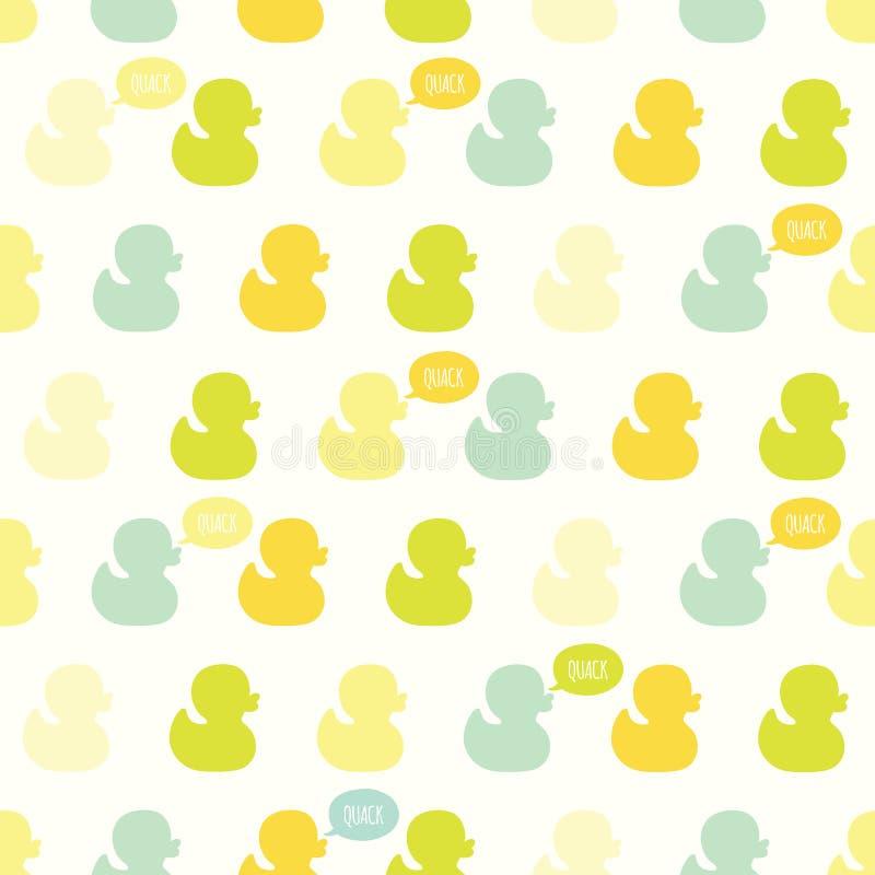 Modèle sans couture de vecteur avec les canards kiddish de bébé illustration de vecteur
