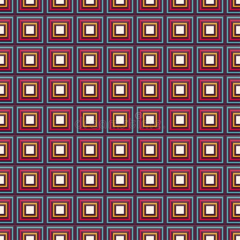 Modèle sans couture de vecteur avec les places multicolores illustration stock