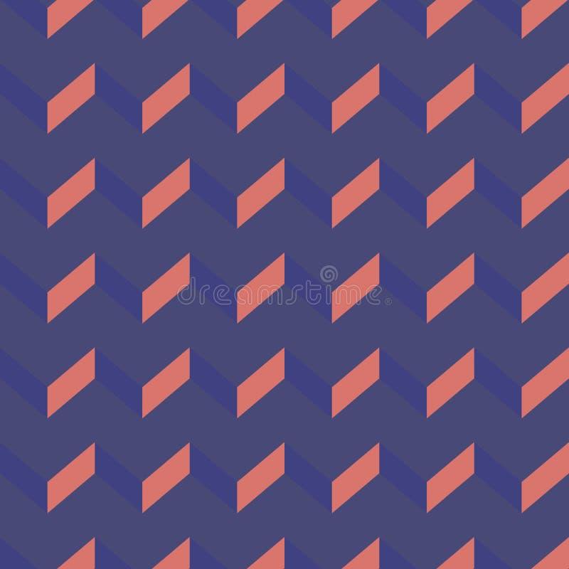 Modèle sans couture de vecteur de chevron Fond coloré de zigzag images stock
