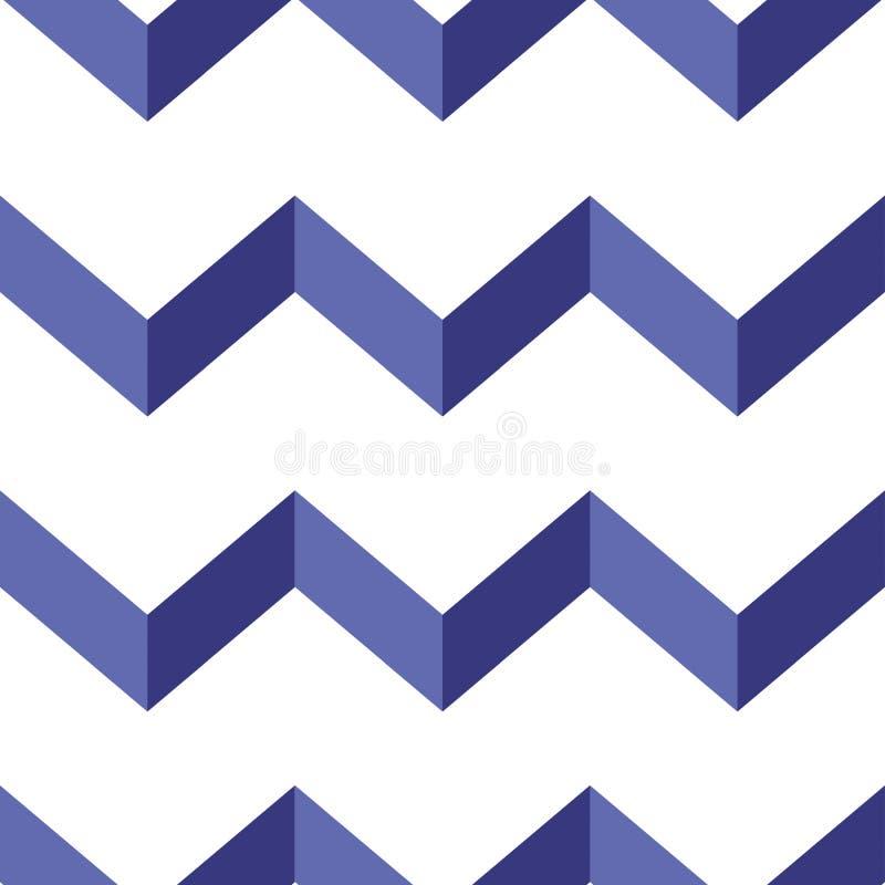 Modèle sans couture de vecteur de chevron Fond coloré de zigzag photographie stock libre de droits