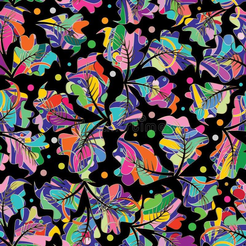 Modèle sans couture de vecteur coloré floral CCB multicolore abstrait illustration de vecteur