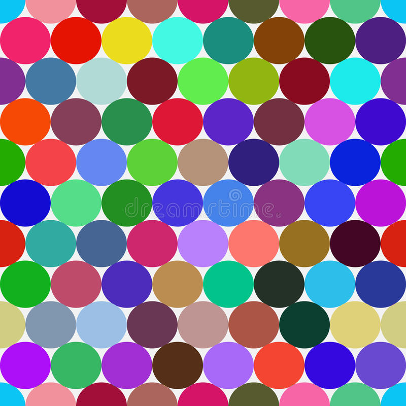 Modèle sans couture de vecteur coloré lumineux avec des cercles illustration de vecteur