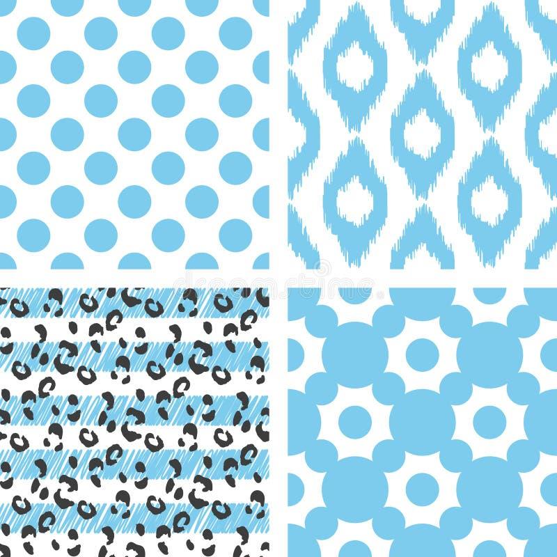 Modèle sans couture de vecteur d'Ikat Géométrique abstrait illustration libre de droits