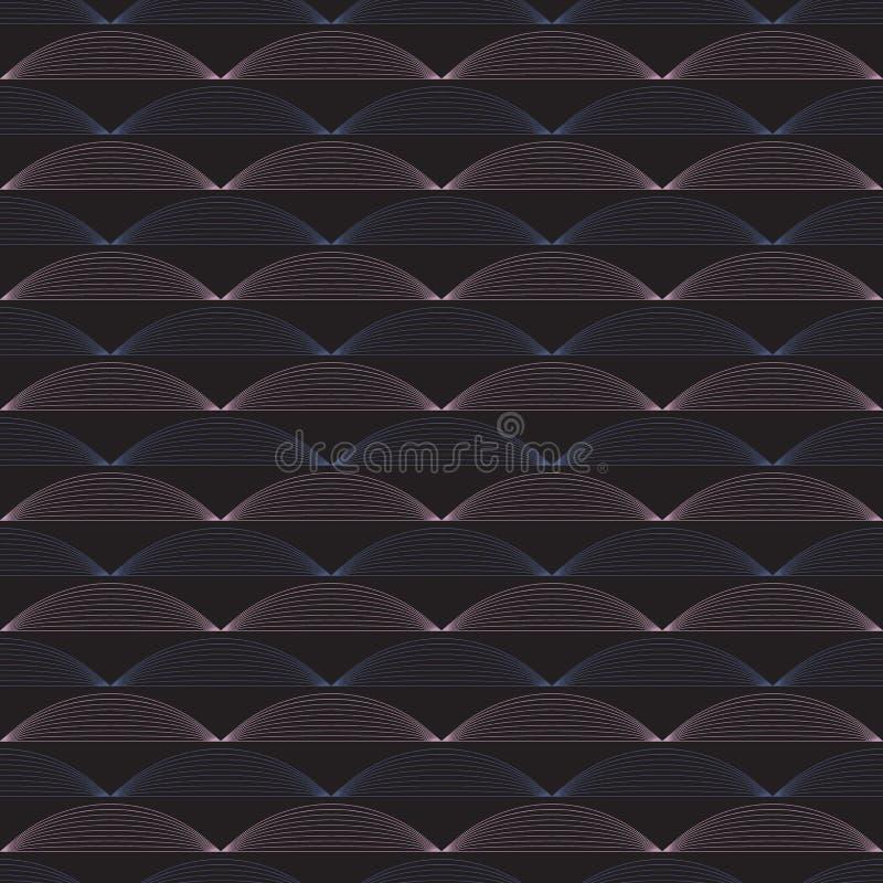 Modèle sans couture de vecteur d'ondulation Répétition de la texture de vecteur Fond graphique onduleux illustration libre de droits
