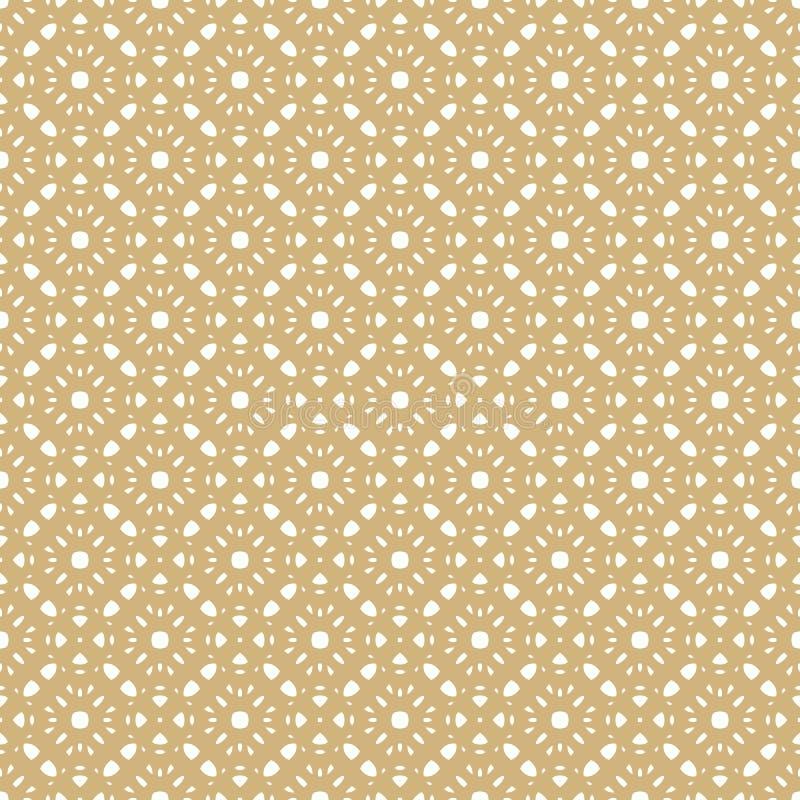 Modèle sans couture de vecteur dans le style Arabe Texture florale géométrique d'or illustration de vecteur
