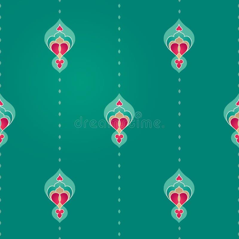 Modèle sans couture de vecteur dans le style oriental illustration stock