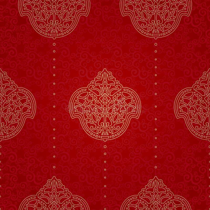 Modèle sans couture de vecteur dans le style oriental illustration libre de droits