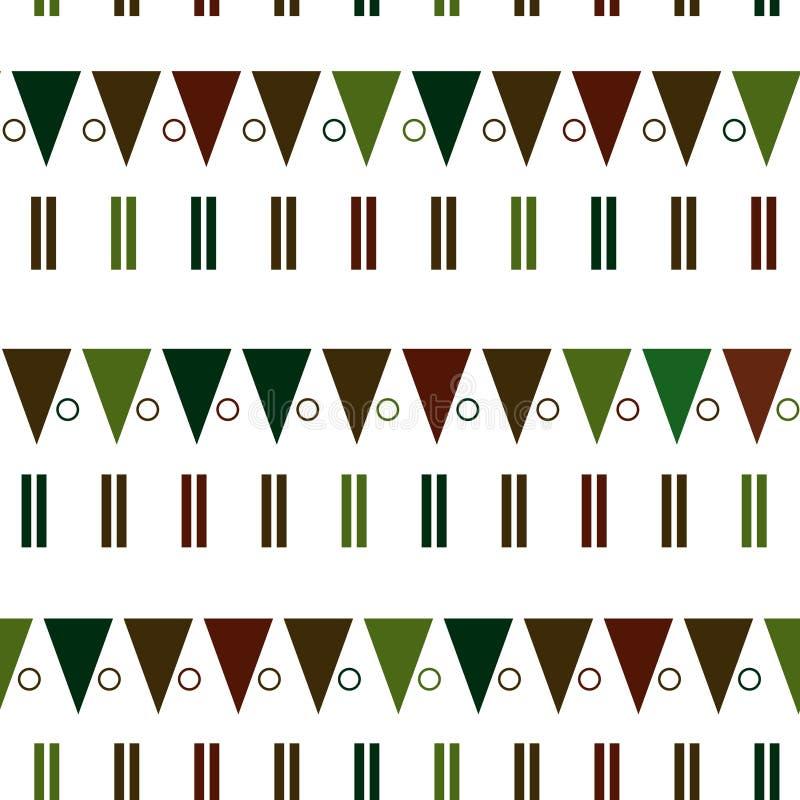 Modèle sans couture de vecteur dans le style scandinave moderne Fond de la géométrie photos stock