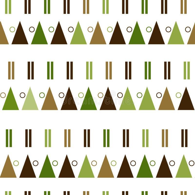 Modèle sans couture de vecteur dans le style scandinave moderne Fond de la géométrie illustration stock