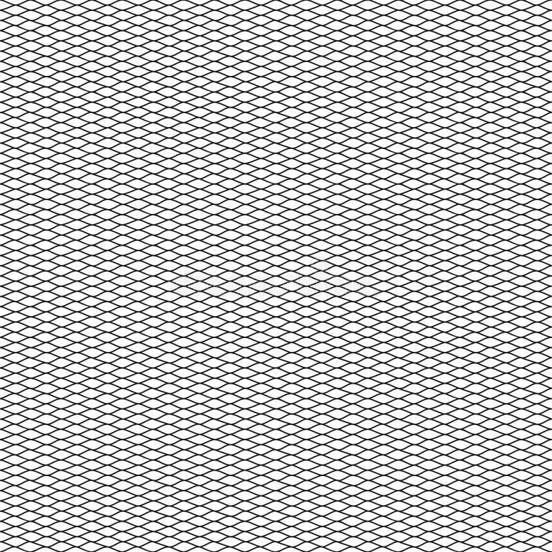 Modèle sans couture de vecteur de filet de pêche illustration stock