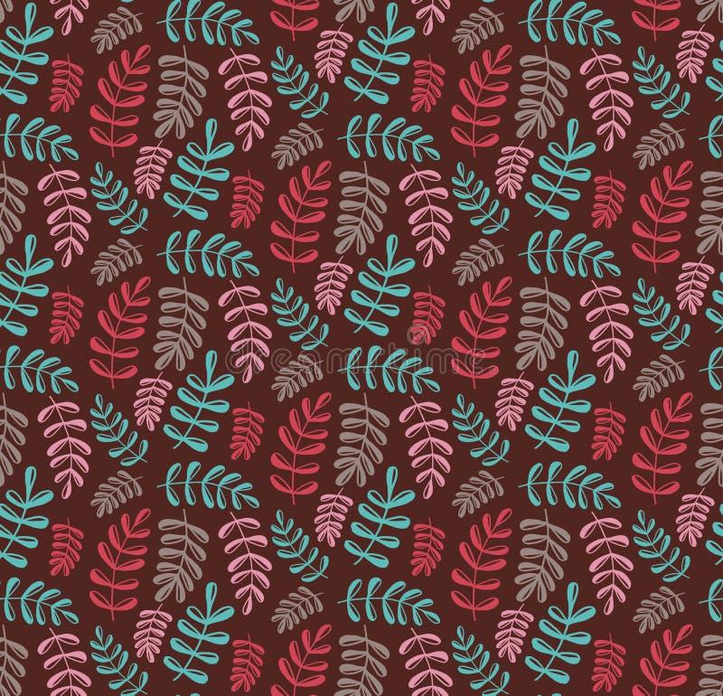 Modèle sans couture de vecteur de griffonnage floral illustration libre de droits