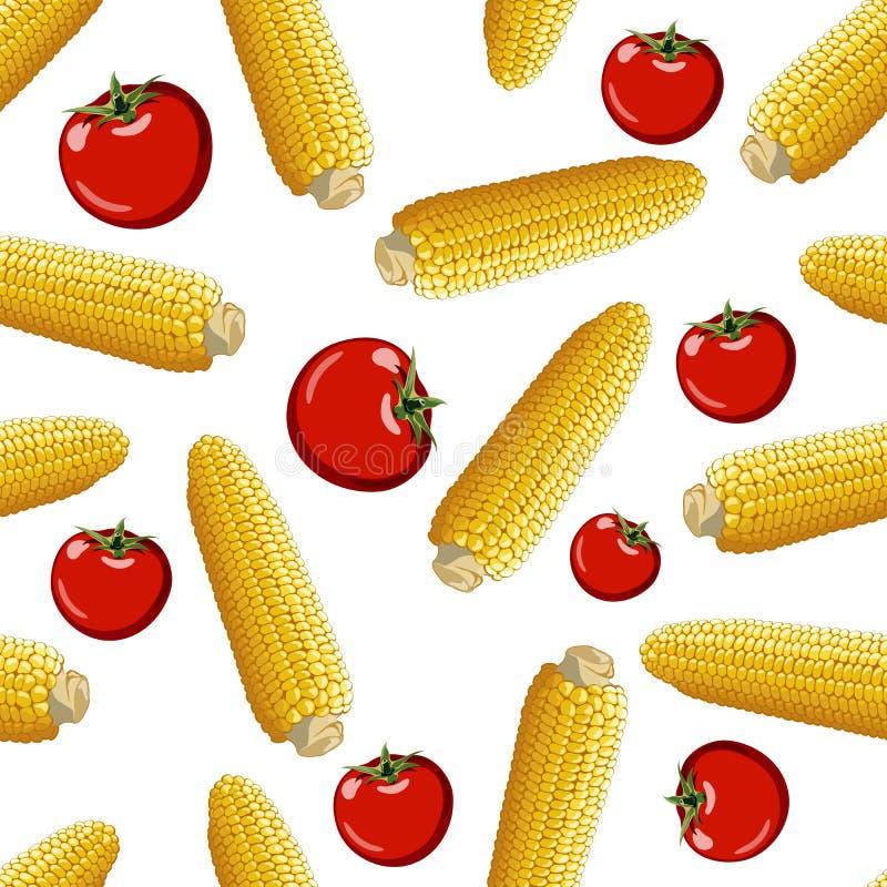 Modèle sans couture de vecteur de maïs illustration libre de droits