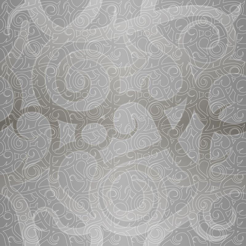 Modèle sans couture de vecteur de vintage avec les éléments en spirale illustration de vecteur