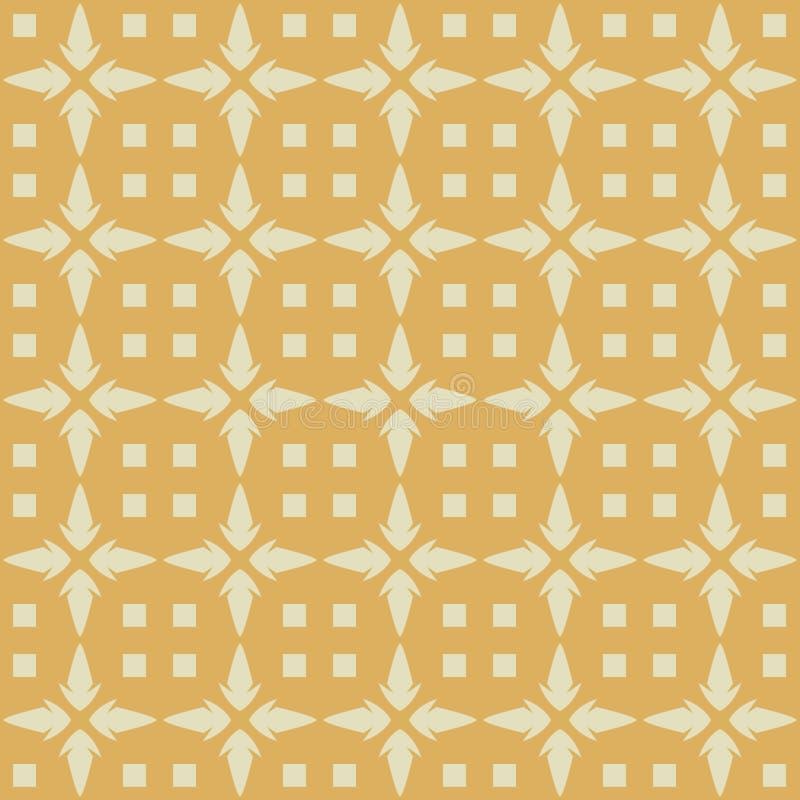 Modèle sans couture de vecteur des étoiles abstraites décoratives illustration stock