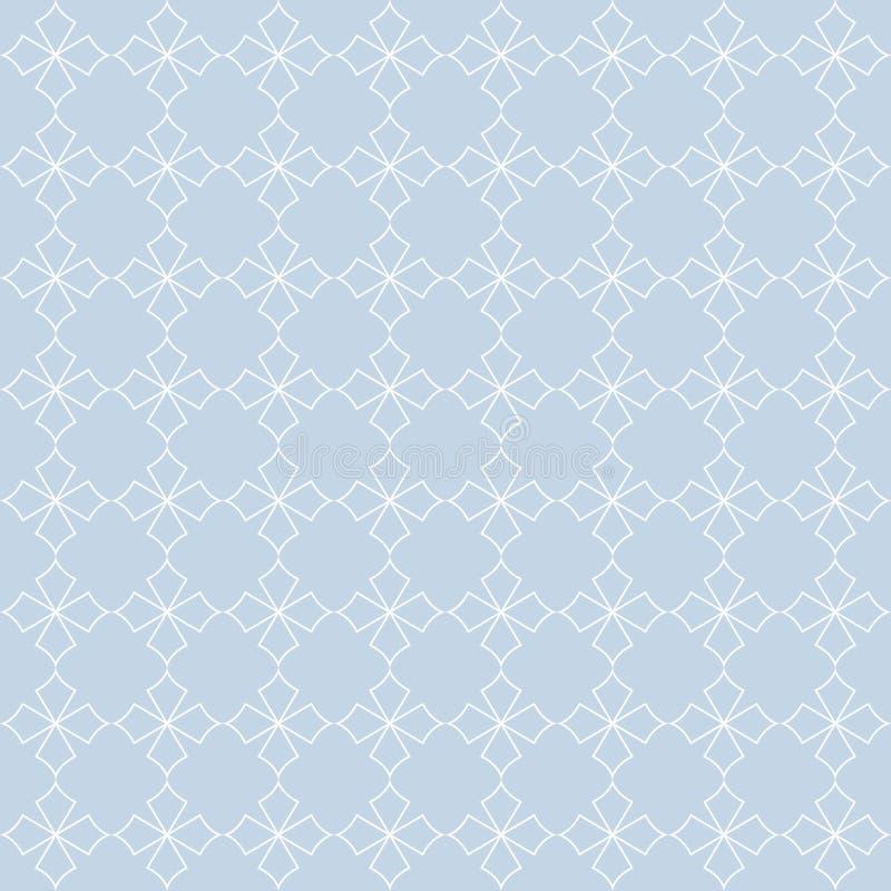 Modèle sans couture de vecteur des étoiles abstraites dans la ligne étable d'art illustration de vecteur