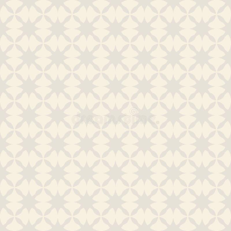 Modèle sans couture de vecteur des étoiles abstraites géométriques illustration stock