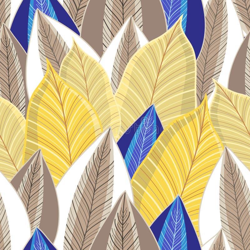 Modèle sans couture de vecteur des feuilles d'or d'automne photographie stock libre de droits