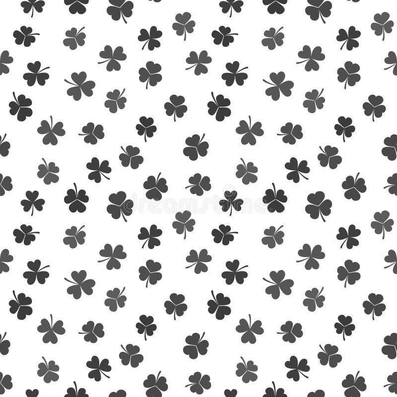 Modèle sans couture de vecteur fait à partir des oxalidex petite oseille ou des trèfles foncés illustration libre de droits