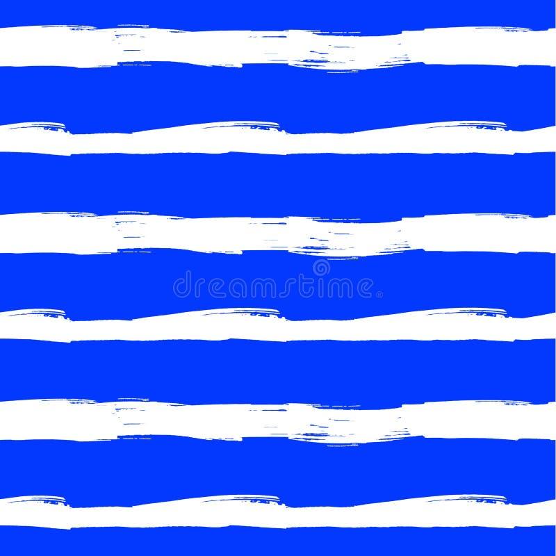 Modèle sans couture de vecteur, fond bleu, mer abstraite, contexte d'été illustration libre de droits