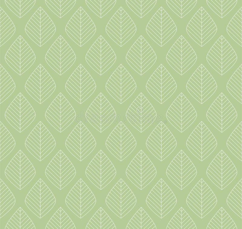 Modèle sans couture de vecteur géométrique de feuilles Texture abstraite de vecteur Fond de feuille illustration libre de droits