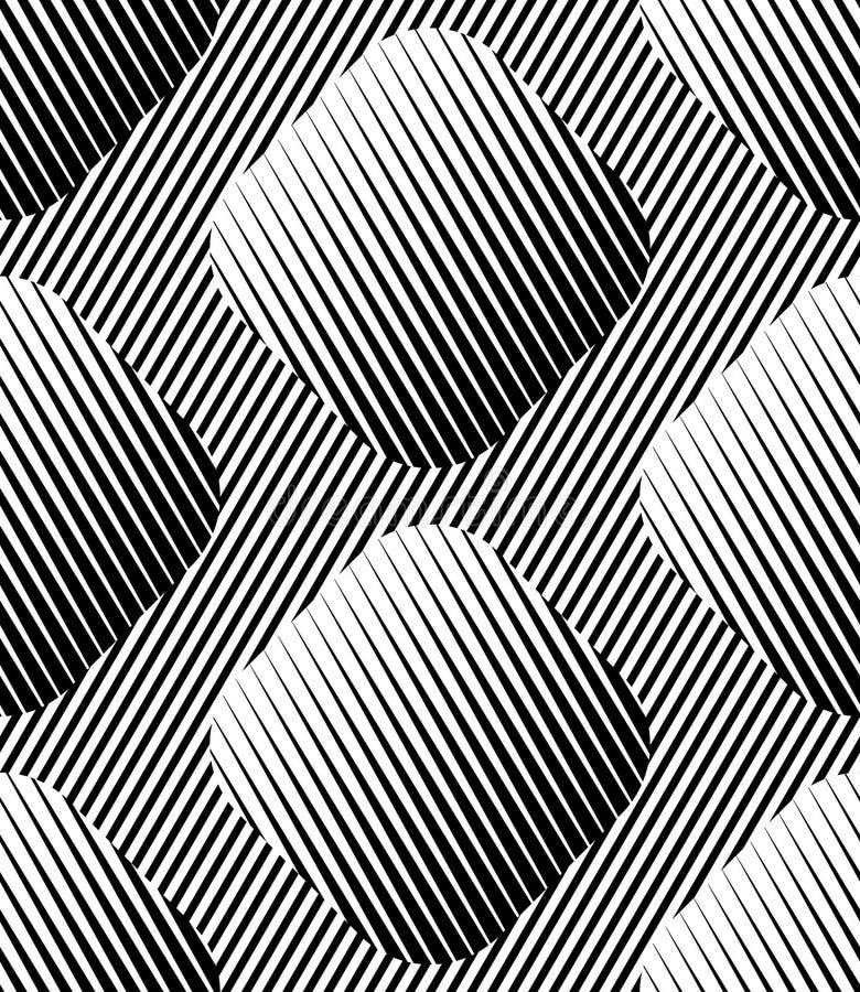 Modèle sans couture de vecteur géométrique rayé abstrait de losanges illustration de vecteur