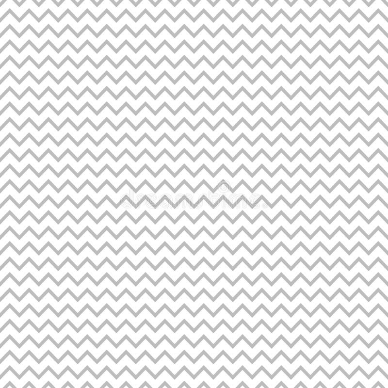 Modèle sans couture de vecteur de Geomentic avec le filigrane gris-clair de zigzag illustration de vecteur