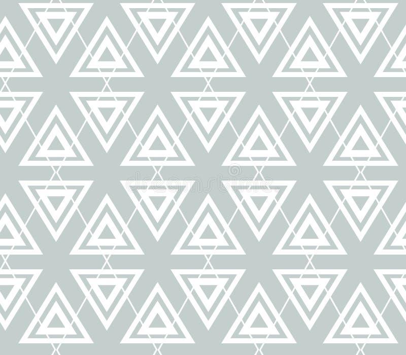 Modèle sans couture de vecteur gris abstrait de la géométrie Triangles et losange illustration libre de droits