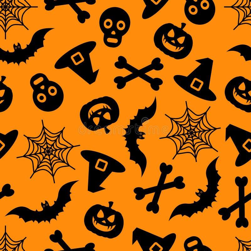 Modèle sans couture de vecteur heureux de Halloween pour le fond illustration stock