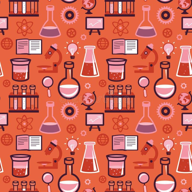Modèle sans couture de vecteur - la science et éducation illustration de vecteur