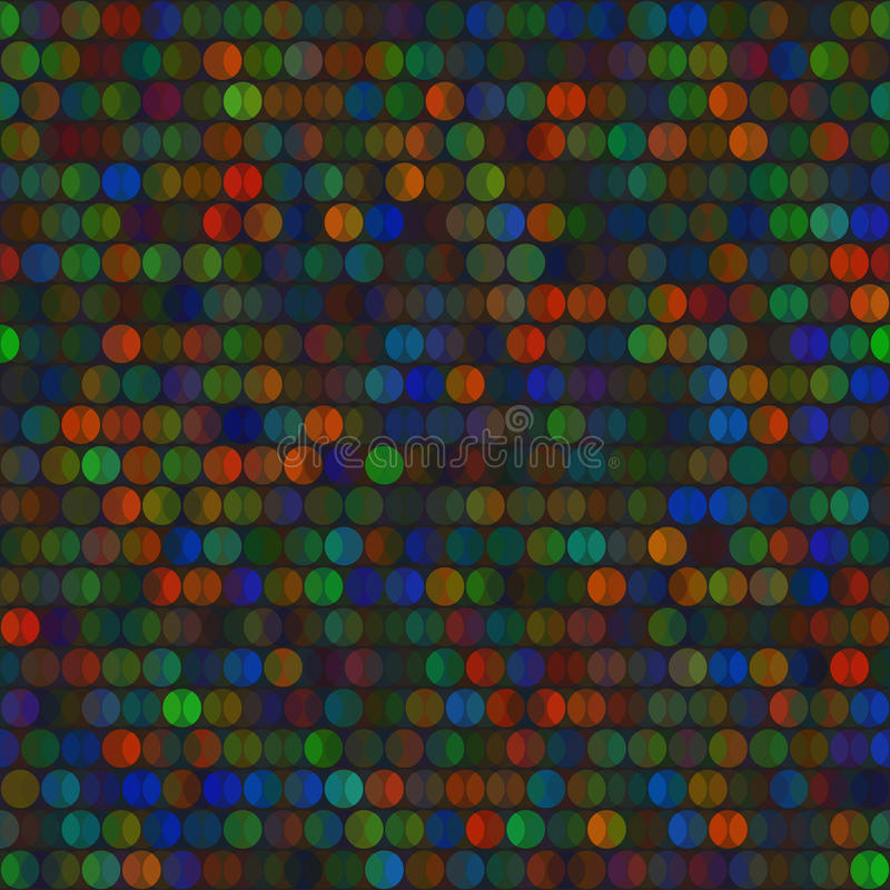 Modèle sans couture de vecteur lumineux vif de cercles illustration stock