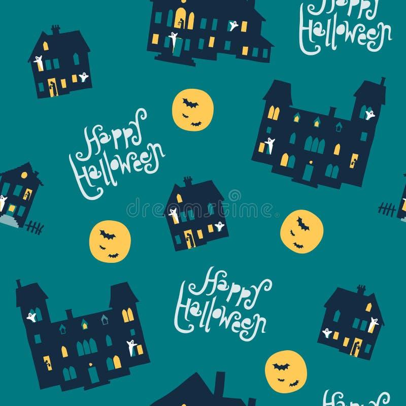 Modèle sans couture de vecteur mignon de Halloween illustration libre de droits
