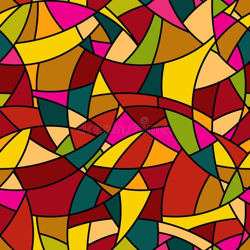 Modèle sans couture de vecteur - mosaïque abstraite souillée illustration de vecteur