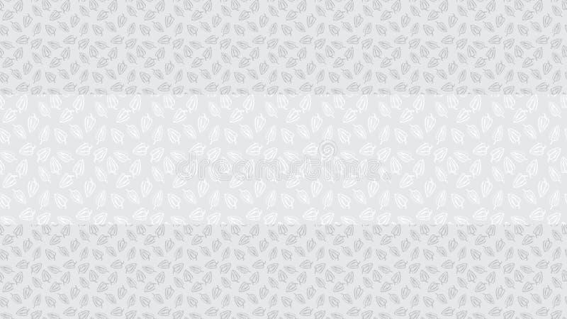 Modèle sans couture de vecteur de paprika Poivre gris de découpe sur le fond gris avec la frontière illustration stock