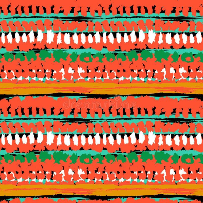 Modèle sans couture de vecteur peint à la main ethnique illustration stock
