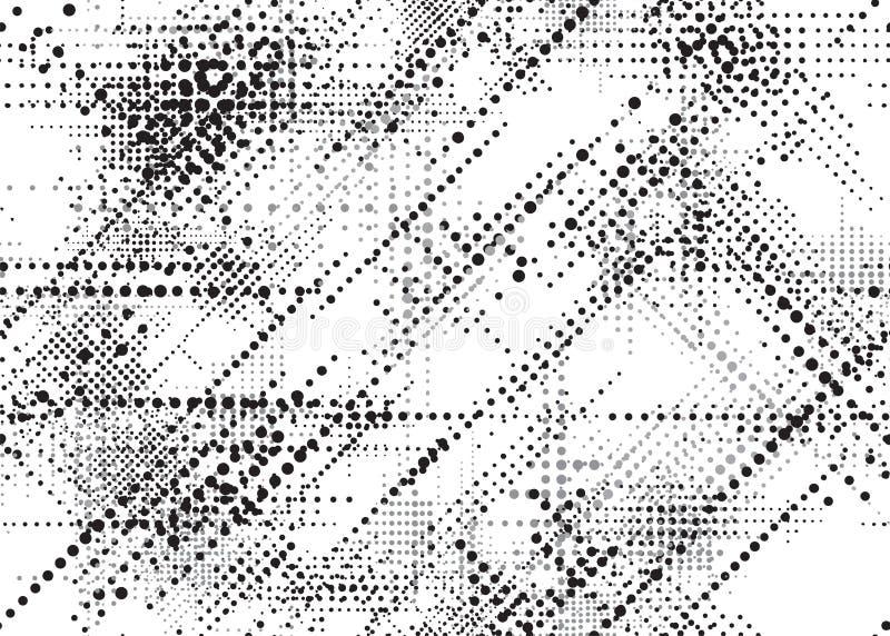 MODÈLE SANS COUTURE DE VECTEUR POINTILLÉ PAR GRUNGE TEXTURE TRAMÉE DIAGONALE DE CONCEPTION illustration stock