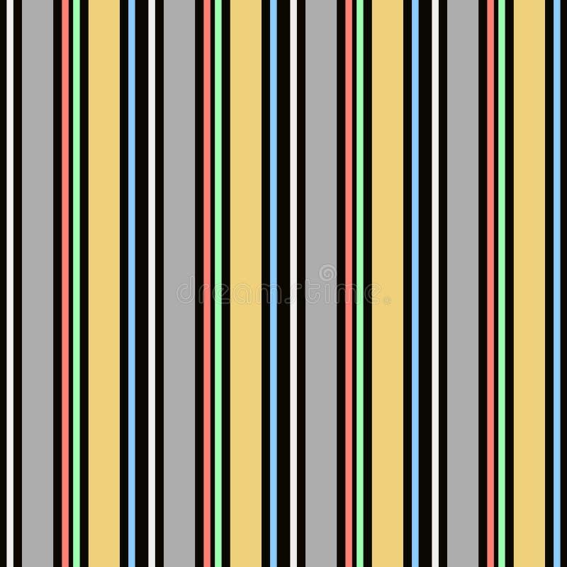 Modèle sans couture de vecteur de résumé avec les rayures parallèles verticales Le fond en pastel coloré peut être employé pour l illustration stock